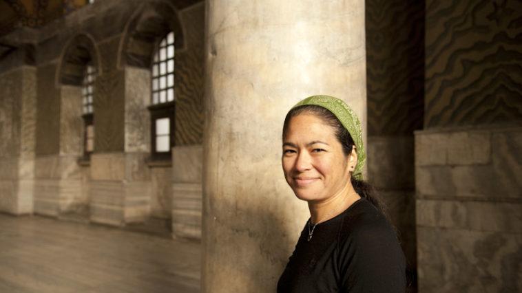 Portrait of Maria Hines in Hagia Sofia, Istanbul, Turkey