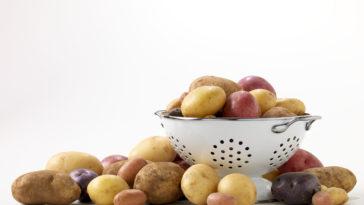 potatoes in colander