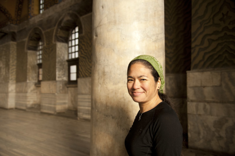 Portrait of Maria Hines in Hagia Sofia, Istanbul, Turkey