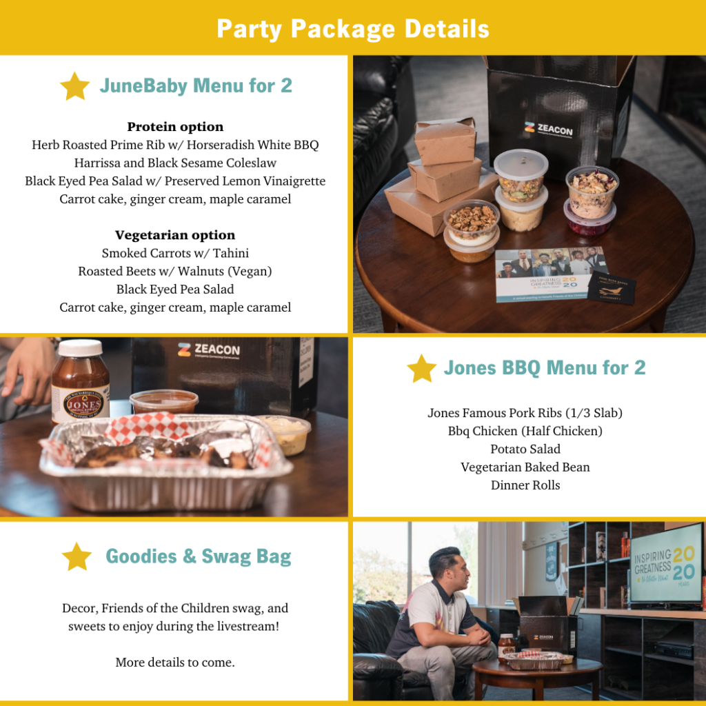 Friends party packages